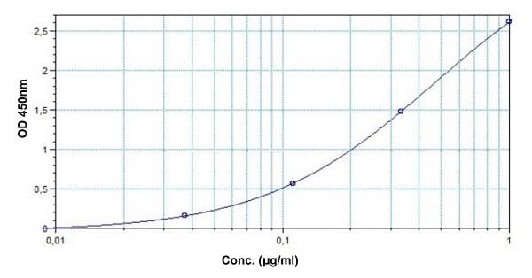 Example of Bevacizumab standard curve
