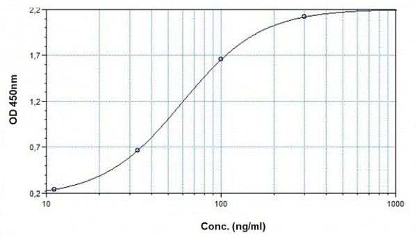 Example of Cetuximab standard curve