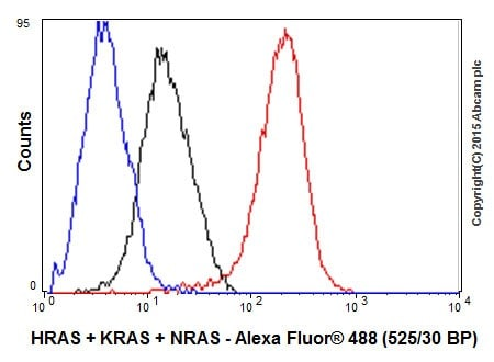 Flow Cytometry - Anti-KRAS+HRAS+NRAS antibody [EPR18713-13] - BSA and Azide free (ab238444)