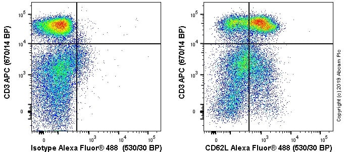 Flow Cytometry - Anti-CD62L antibody [OX85] (ab238473)
