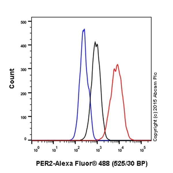 Flow Cytometry - Anti-PER2 antibody [EPR11381(2)] - BSA and Azide free (ab238973)