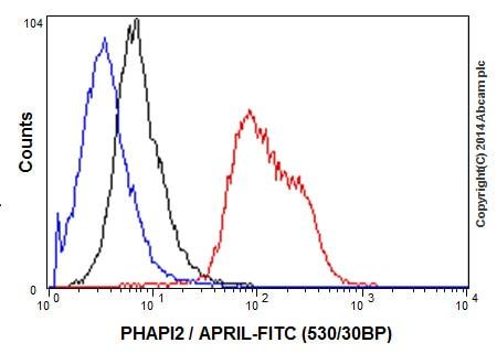 Flow Cytometry - Anti-PHAPI2 / APRIL antibody [EPR14588] - BSA and Azide free (ab239014)