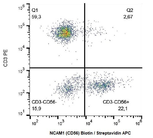 Flow Cytometry - Anti-NCAM1 antibody [MEM-188] (Biotin) (ab239241)