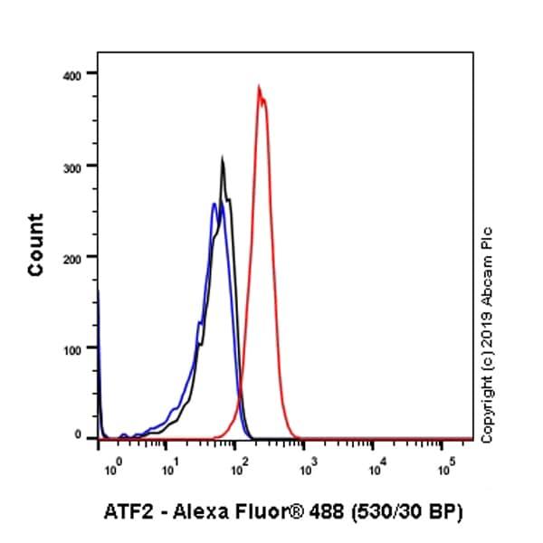 Flow Cytometry - Anti-ATF2 antibody [EPR22938-114] (ab239361)