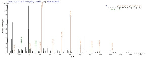 Mass Spectrometry - Recombinant Human C4orf27 protein (Tagged) (ab239559)