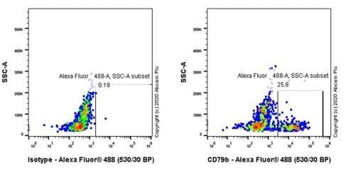 Flow Cytometry - Anti-CD79b antibody [CB3-1] - BSA and Azide free (ab239596)