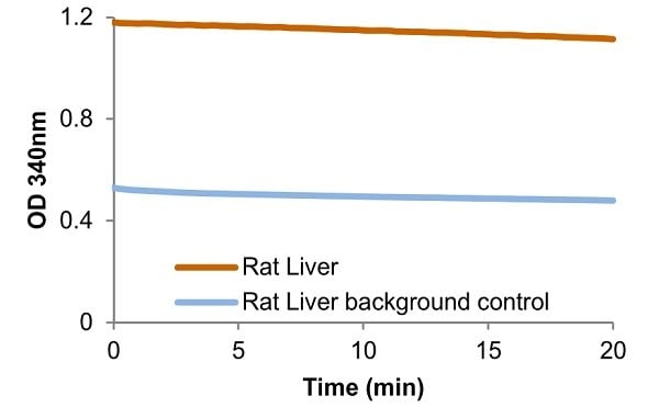 Dihydrofolate Reductase activity in Rat Liver (100 µg)