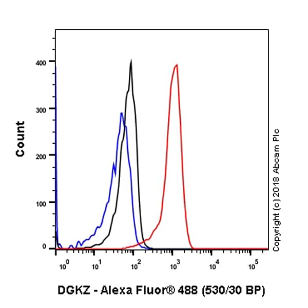 Flow Cytometry - Anti-DGKZ/DGK-zeta antibody [EPR22040-80] - BSA and Azide free (ab239790)