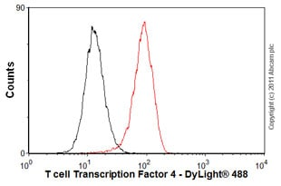 Flow Cytometry - Anti-TCF-4/TCF7L2 antibody [EP2033Y] - BSA and Azide free (ab239876)