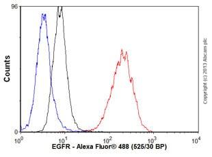 Flow Cytometry - Anti-EGFR antibody [EPR39Y] - BSA and Azide free (ab239877)