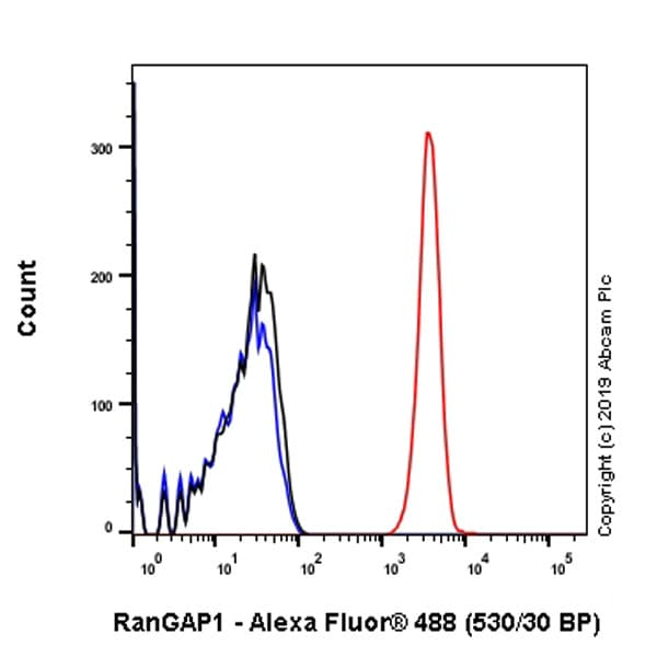 Flow Cytometry - Anti-RanGAP1 antibody [EPR3295] - BSA and Azide free (ab239907)