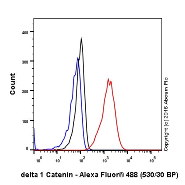 Flow Cytometry - Anti-delta 1 Catenin/CAS antibody [EPR357(2)] - BSA and Azide free (ab239916)