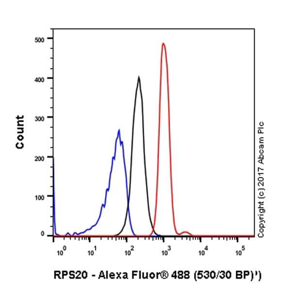 Flow Cytometry - Anti-RPS20 antibody [EPR8716] - BSA and Azide free (ab240081)