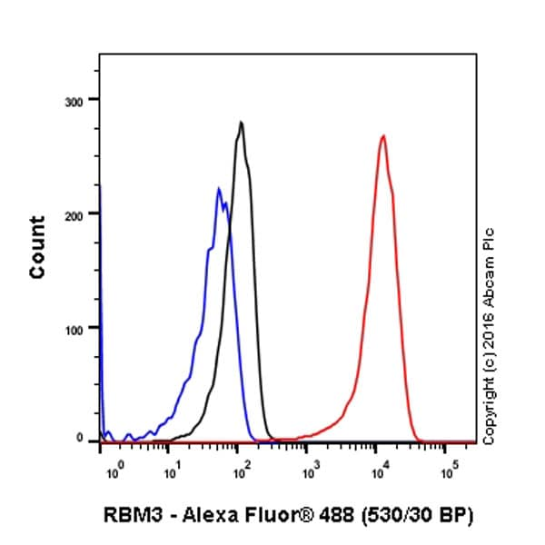 Flow Cytometry - Anti-RBM3 antibody [EPR6061(2)] - BSA and Azide free (ab240089)