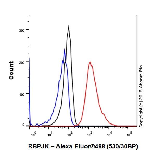 Flow Cytometry - Anti-RBPJK antibody [EPR13479] - BSA and Azide free (ab240227)