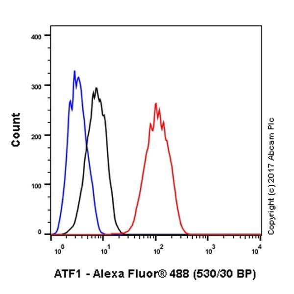Flow Cytometry - Anti-ATF1 antibody [EPR17028] - BSA and Azide free (ab240253)