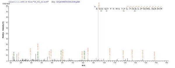 Mass Spectrometry - Recombinant Mycobacterium tuberculosis TB Ag85A protein (His tag) (ab240770)