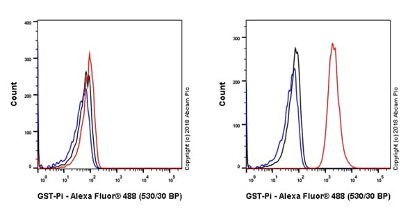 Flow Cytometry - Anti-GST3 / GST pi antibody [EPR20554] - BSA and Azide free (ab242014)