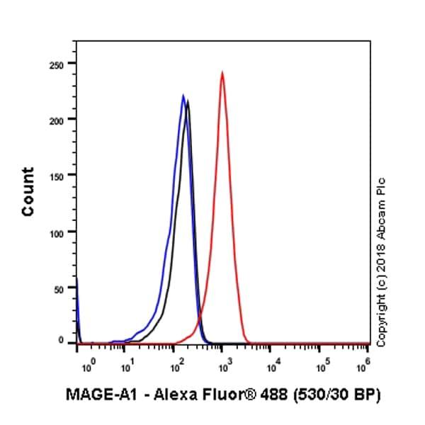 Flow Cytometry - Anti-MAGEA1 antibody [SP188] - BSA and Azide free (ab243935)