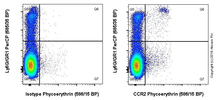 Flow Cytometry - Anti-CCR2 antibody [EPR20844] (Phycoerythrin) (ab245899)