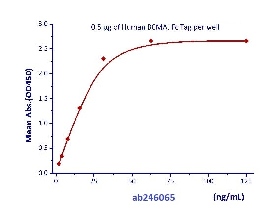 Functional Studies - Recombinant human BAFF protein (Active) (Biotin) (ab246065)