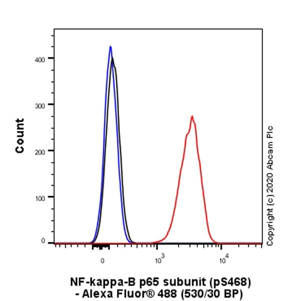 Flow Cytometry (Intracellular) - Anti-NF-kB p65 antibody [EP2161Y] - BSA and Azide free (ab246347)
