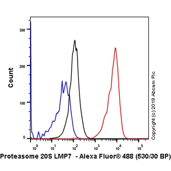 Flow Cytometry - Anti-Proteasome 20S LMP7 antibody [EPR14482(B)] - BSA and Azide free (ab246363)