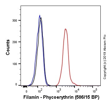 Flow Cytometry - Anti-Filamin A antibody [EP2405Y] (Phycoerythrin) (ab246751)