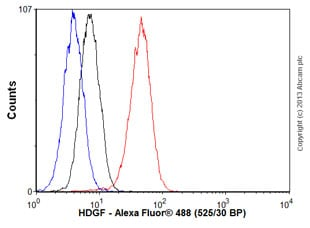 Flow Cytometry - Anti-HDGF antibody [EPR7898] - BSA and Azide free (ab248221)