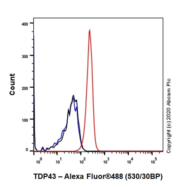 Flow Cytometry - Anti-TDP43 antibody [EPR5811] - BSA and Azide free (ab248546)