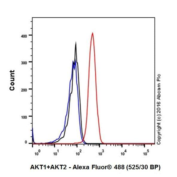 Flow Cytometry - Anti-AKT1 + AKT2 antibody [EPR17062] - BSA and Azide free (ab250634)