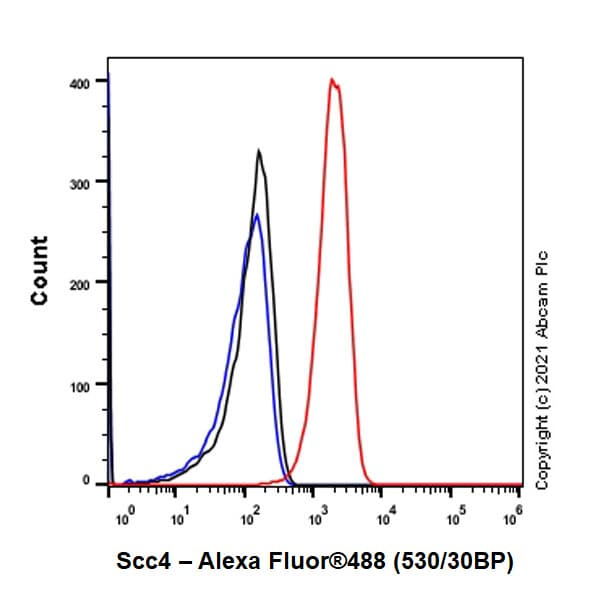Flow Cytometry (Intracellular) - Anti-Scc4 antibody [EPR14390] - BSA and Azide free (ab250646)