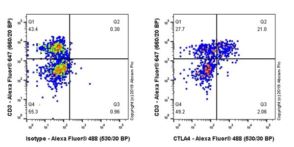 Flow Cytometry (Intracellular) - Anti-CTLA4 antibody [CAL49] - BSA and Azide free (ab251599)