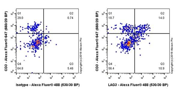 Flow Cytometry - Anti-LAG-3 antibody [CAL26] - BSA and Azide free (ab251605)