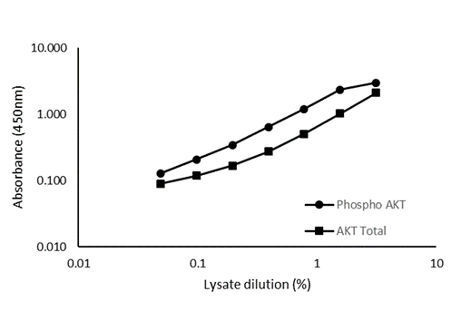 Typical cell lysate dilution series