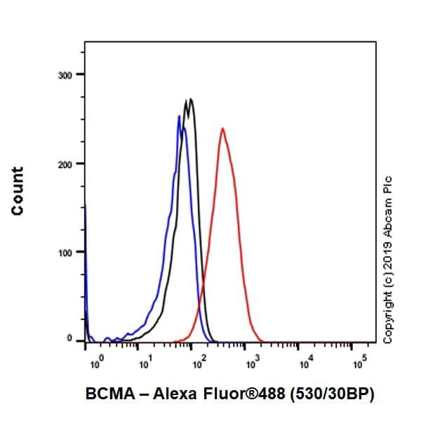 Flow Cytometry - Anti-BCMA antibody [EPRBOB-R1-F1-24] - BSA and Azide free (ab254206)