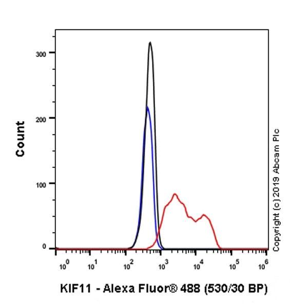 Flow Cytometry (Intracellular) - Anti-Eg5 antibody [EPR23277-60] (ab254299)