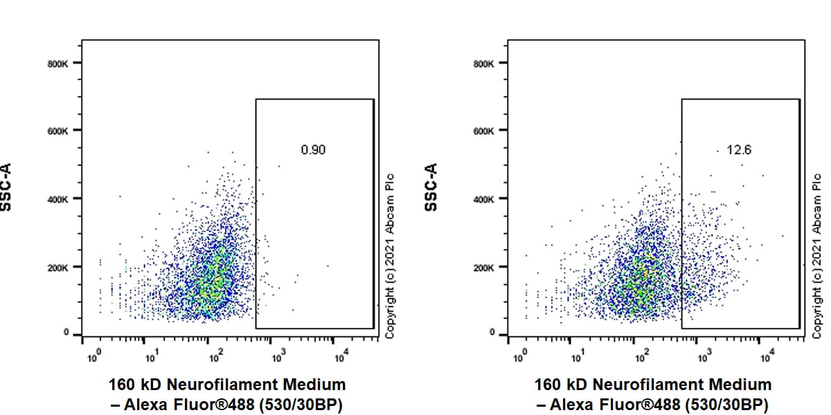 Flow Cytometry - Anti-160 kD Neurofilament Medium antibody (ab254348)