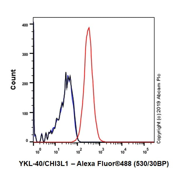 Flow Cytometry - Anti-YKL-40/CHI3L1 antibody [EPR19078-157] (ab255297)