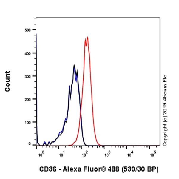 Flow Cytometry - Anti-CD36 antibody [EPR22509-40] - BSA and Azide free (ab255331)