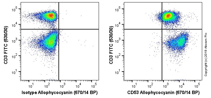 Flow Cytometry - Anti-CD53 antibody [MRC OX-44] (Allophycocyanin) (ab256288)