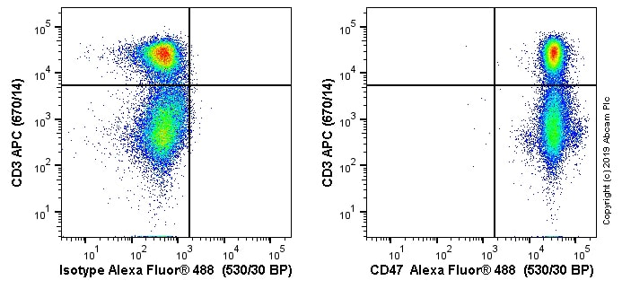 Flow Cytometry - Anti-CD47 antibody [OX-101] (Alexa Fluor® 488) (ab256290)