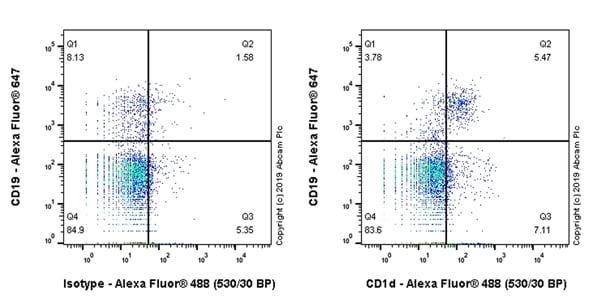 Flow Cytometry - Anti-CD1d antibody [EPR22526-9] (ab256344)