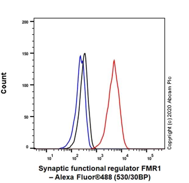 Flow Cytometry - Anti-FMRP antibody [EPR23852-90] (ab259335)