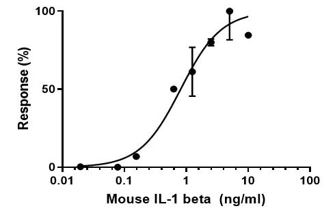Functional Studies - Recombinant mouse IL-1 beta protein (Active) (ab259421)