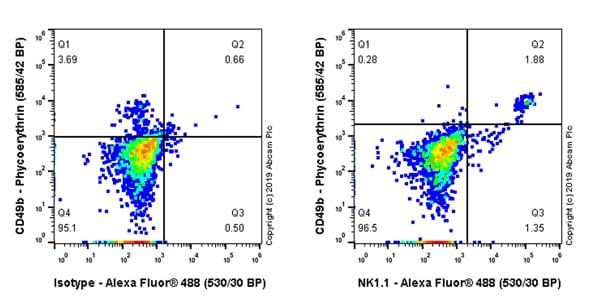 Flow Cytometry - Anti-NKR-P1C antibody [EPR22990-12] - BSA and Azide free (ab263867)
