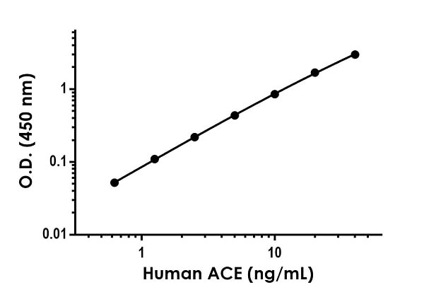 Example of human ACE standard curve in Sample Diluent NS.