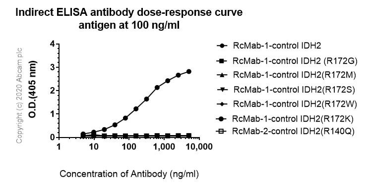 ELISA - Anti-IDH2 (mutated R172K) antibody [KMab-1] - BSA and Azide free (ab264060)
