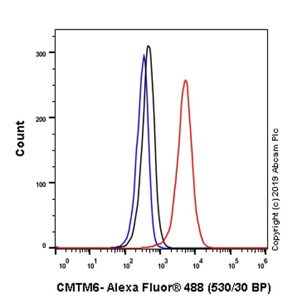 Flow Cytometry (Intracellular) - Anti-CMTM6 antibody [EPR23015-45] - BSA and Azide free (ab264076)