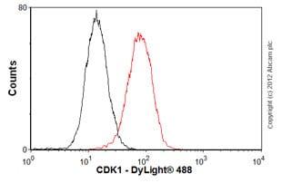 Flow Cytometry - Anti-CDK1 antibody [A17] - BSA and Azide free (ab264084)